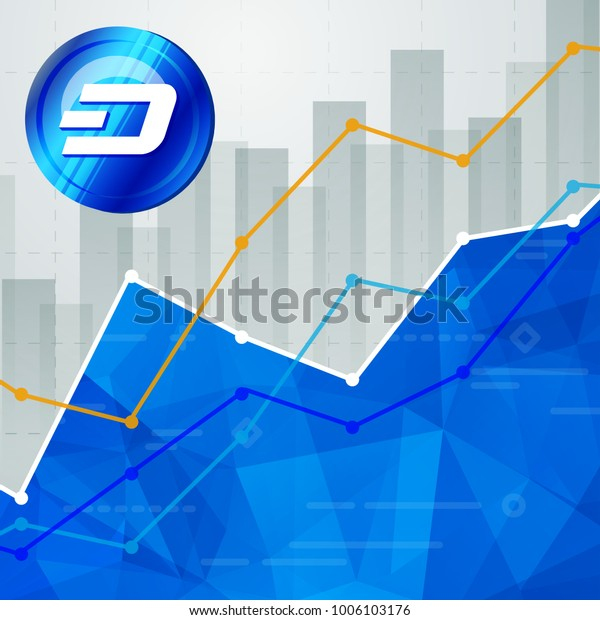 Dash Cryptocurrency Statistics Chart Showing Various Stock