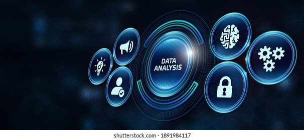 Data Analysis for Business and Finance Concept. Information report for digital business strategy. Business, technology, internet and networking concept.  3d illustration