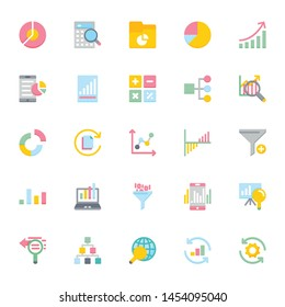 Data Analytics - Flat & Color shade icons