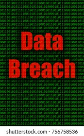 Data Breach Illustrating Concept of Computer and Internet Security