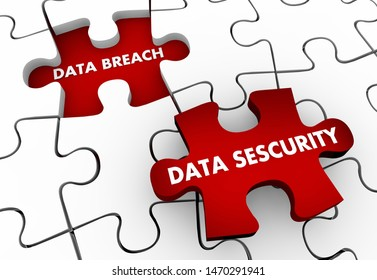 Data Breach Security Solve Problem Puzzle Solution 3d Illustration