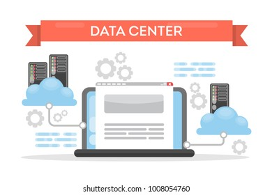Data center cloud tecnology for data storage and protection.