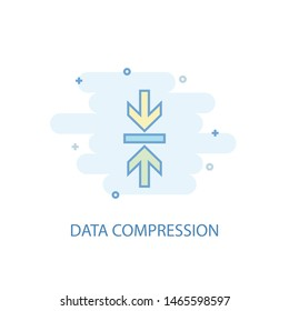 Data Compression line concept. Simple line icon, colored illustration. Data Compression symbol flat design. Can be used for UI/UX
