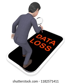 Data Loss Prevention Security Shield 3d Rendering Shows Technology Shield To Prevent Unprotected Or Unsecured Information