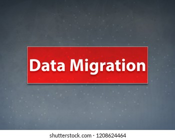 Data Migration Isolated on Red Banner Abstract Background illustration Design