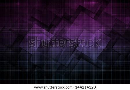 Data Mining Art Worldwide Global Dataset Stock Illustration