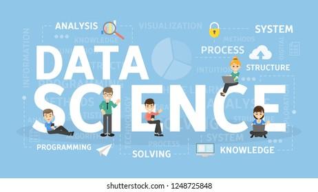 Data science concept illustration. Idea of big data.