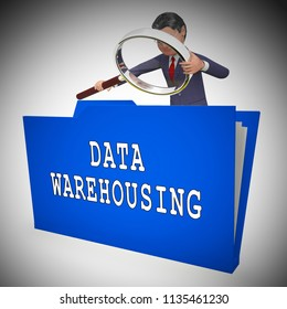 Data Warehousing Datacenter Resources Storage 3d Rendering Shows Repository Management And Storage Organization