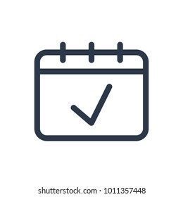 Date icon. Isolated agenda and date icon line style. Premium quality  symbol drawing concept for your logo web mobile app UI design.