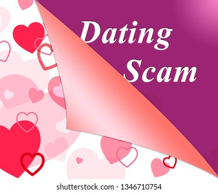 Dating Scam Hearts Depicts Online Romance Scammer Or Trickster. Cybersex Lies And Fake Girlfriend - 3d Illustration