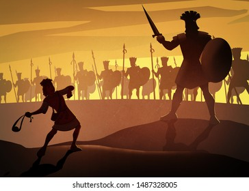 David And Goliath, bible story