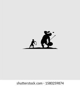 david vs goliath deign illustration