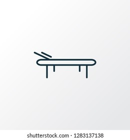 Daybed icon line symbol. Premium quality isolated lounger element in trendy style.