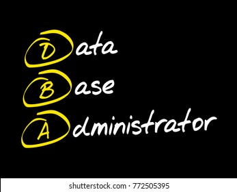 DBA - Database Administrator, acronym business concept