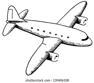 DC-3 pen and ink