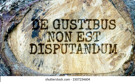 De gustibus non est disputandum (There is no disputing about tastes) - Latin maxim about taste