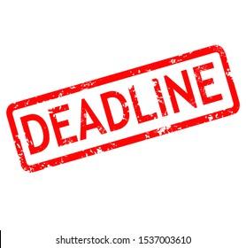 deadline stamp red rubber stamp on white background. deadline stamp sign. deadline stamp.
