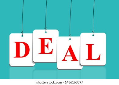Deal background illustration Stock Photo red color on light blue background, USA vs china Deal concept,