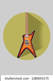 dean guitar illustration flat design
