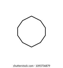 decagon icon. Element of geometric figure for mobile concept and web apps. Thin line decagon icon can be used for web and mobile on white background