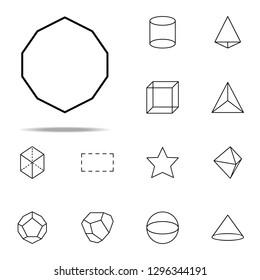 decagon icon. Geometric figures icons universal set for web and mobile