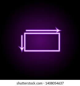 decagon neon icon. Elements of geometric figures set. Simple icon for websites, web design, mobile app, info graphics on dark gradient background