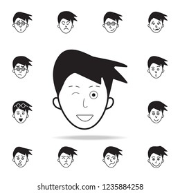 deceit on face icon. Detailed set of facial emotions icons. Premium graphic design. One of the collection icons for websites, web design, mobile app