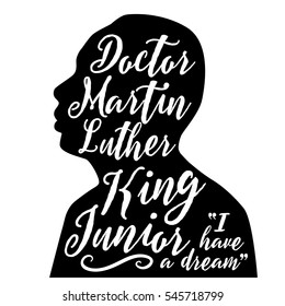 DECEMBER 28, 2016: Illustrative editorial stylized portrait or Dr. Martin Luther King Jr. For remembrance on Martin Luther King Day.