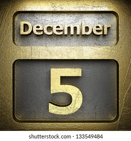 december 5 golden sign on silver