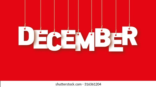 December word hanging on the ropes