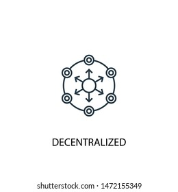decentralized concept line icon. Simple element illustration. decentralized concept outline symbol design. Can be used for web and mobile UI/UX
