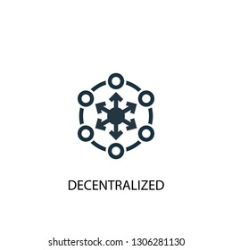 decentralized icon. Simple element illustration. decentralized concept symbol design. Can be used for web and mobile.