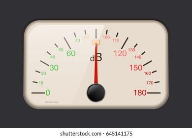 Decibel meter. 3d illustration. Raster version