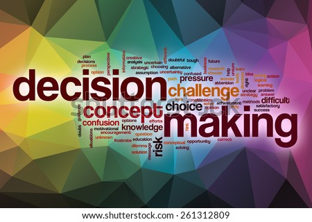 decision making word cloud concept abstractのイラスト素材 261312809