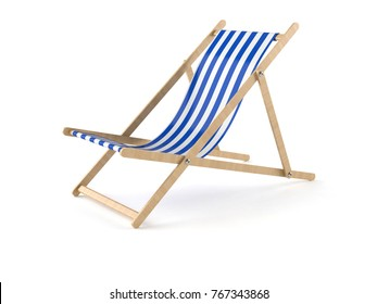 Deck chair isolated on white background. 3d illustration