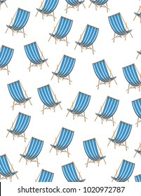 Deck Chairs blue and white striped pattern.