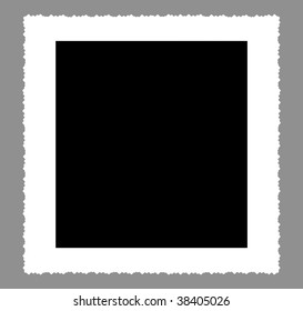 deckle edged picture frame, large size, clipping path, free copy space, rectangular format