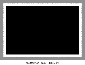 deckle edged picture frame, large size, narrow frame, clipping path, free copy space