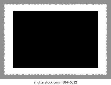deckle edged picture frame,clipping path, free copy space