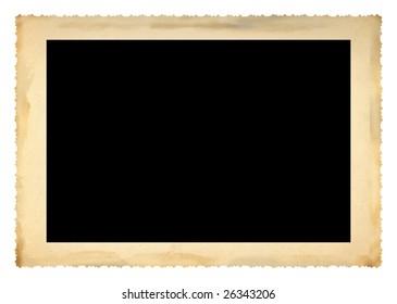 deckle-edge rerto frame