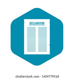 Declaration of independence icon. Simple illustration of declaration of independence icon for web