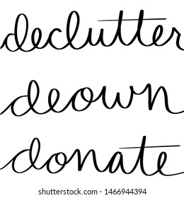Declutter deown donate Simple sign