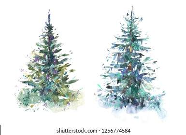 Christmas Tree Illustration.Christmas Tree Drawing Images Stock Photos Vectors