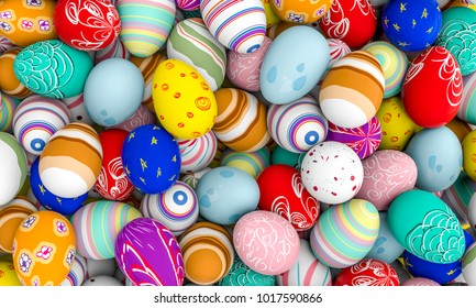 decorated easter egg 3d rendering image