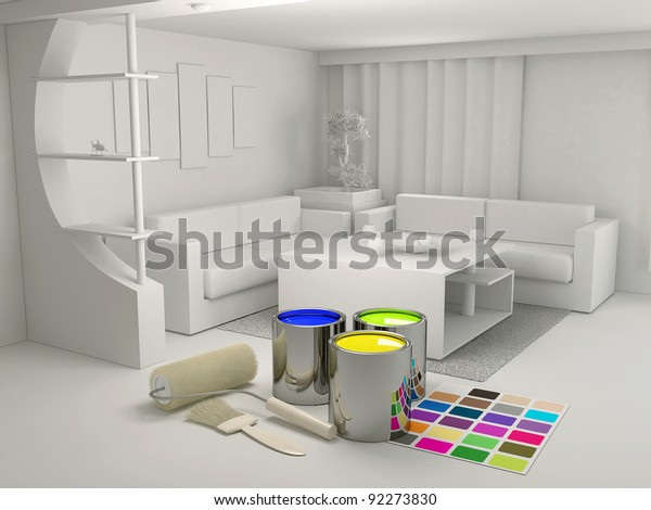 Decorating Tools Materials Stock Illustration 92273830