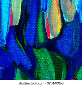 decorative abstract painting on a rough canvas by oil, illustration