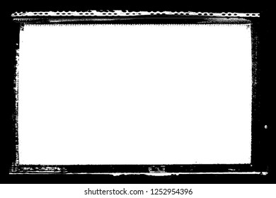 Decorative Black Darkroom Photo Edges for Landscape Photos
