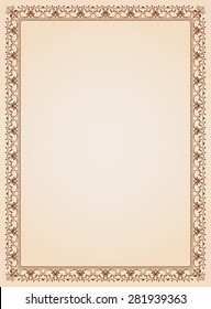 Decorative border frame background certificate template 4