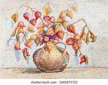 Decorative bouquet of bright  autumn flowers