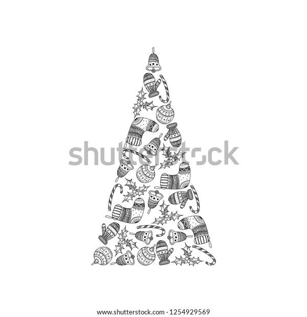 Christmas symbols to print and color | 620x600